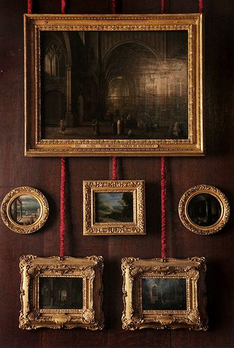 Hampton Court Palace, William III Apartments--- 'Gorgeous frames.'  JT (always in my own words)