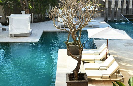One of three elegant swimming pools — located in the West Garden at The Westin Nusa Dua Bali