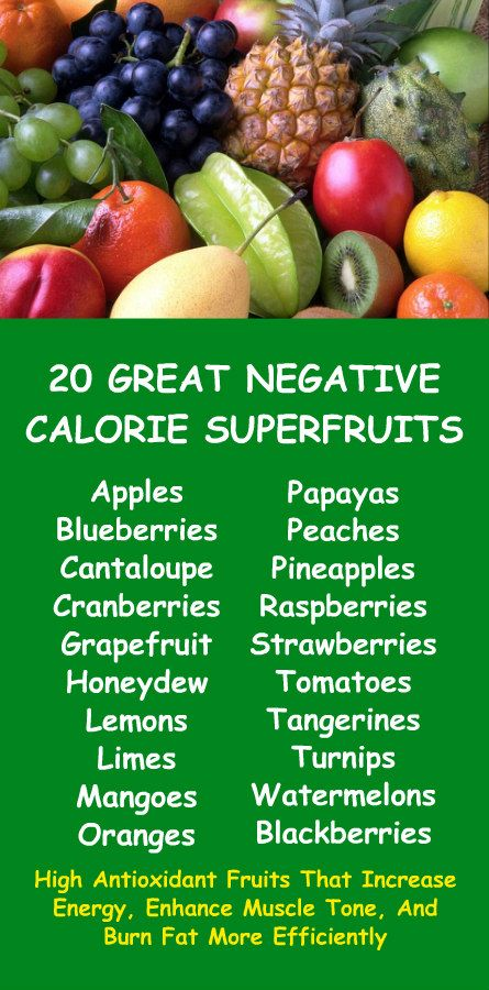 20 GREAT NEGATIVE CALORIE SUPERFRUITS: Apples, blueberries cantaloupe, cranberries, grapefruit, honeydew, lemons, limes, mangoes, oranges, papayas, peaches, pineapples, raspberries, strawberries, tomatoes, tangerines, turnips, watermelons, blackberries. Learn the fat burning negative calorie qualities of alkaline rich Kangen Water; the hydrogen rich, antioxidant loaded, ionized water that neutralizes free radicals that cause oxidative stress which allows your body to burn fat more…
