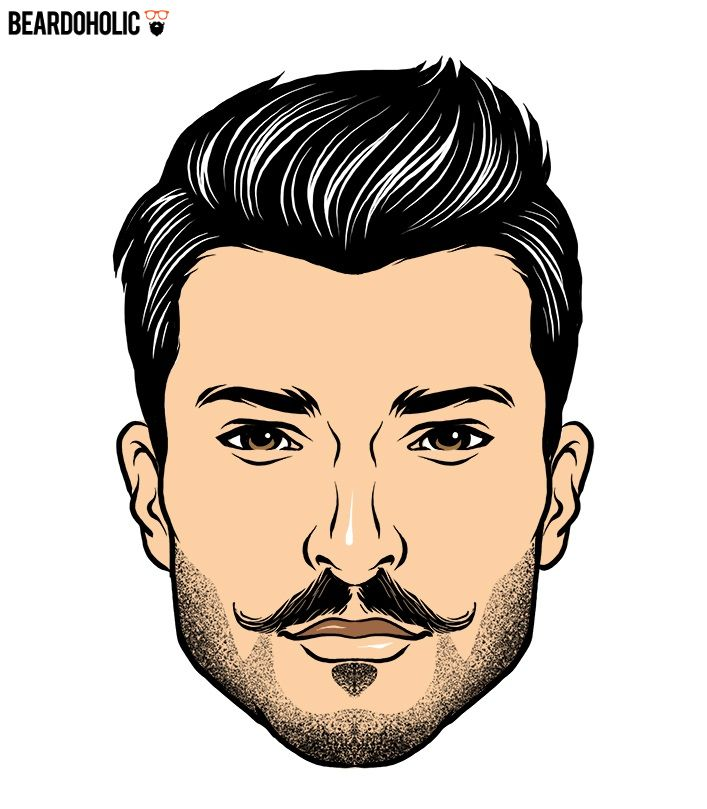 Patchy Beard with Handlebar Mustache In Short Beard Styles