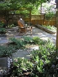 Image result for cottage garden fence and paving stones design