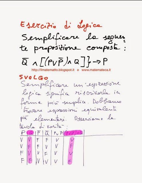 Per gli studenti del primo anno di scuola superiore, ho pubblicato un esercizio svolto di logica matematica, scaricabile e stampabile gratuitamente :-)