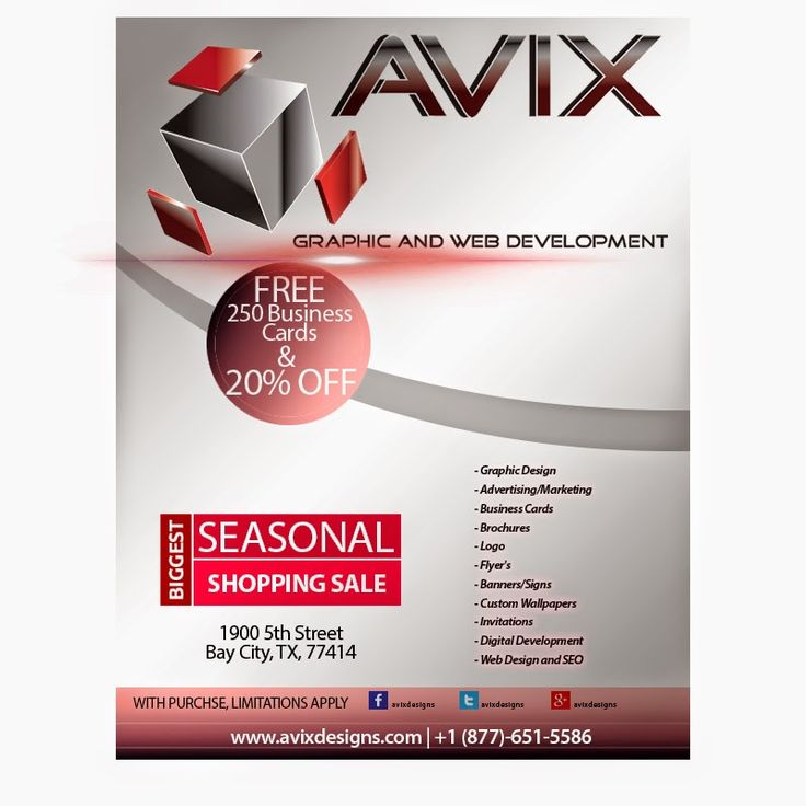 AVIX Graphic and Web Development:   Seasonal Specials For a Limited Time Onlywww.avi...