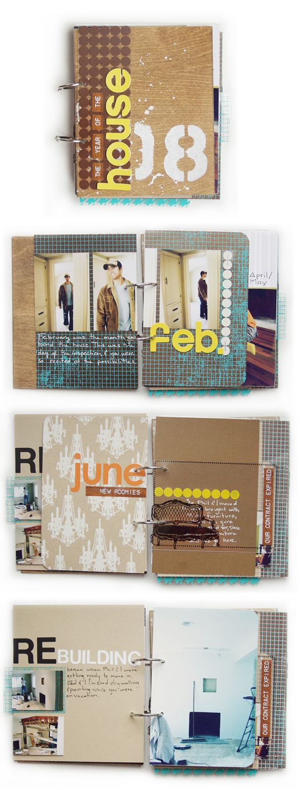 Love this too.  I like the idea of doing a journal with rings like this so it can expand: Minis Album Scrapbook, Minis Ideas, Houses Journals, Minis Books, Houses Re Do, Houses Minis Album, Awesome Ideas, Scrapbook Journals, Album Time