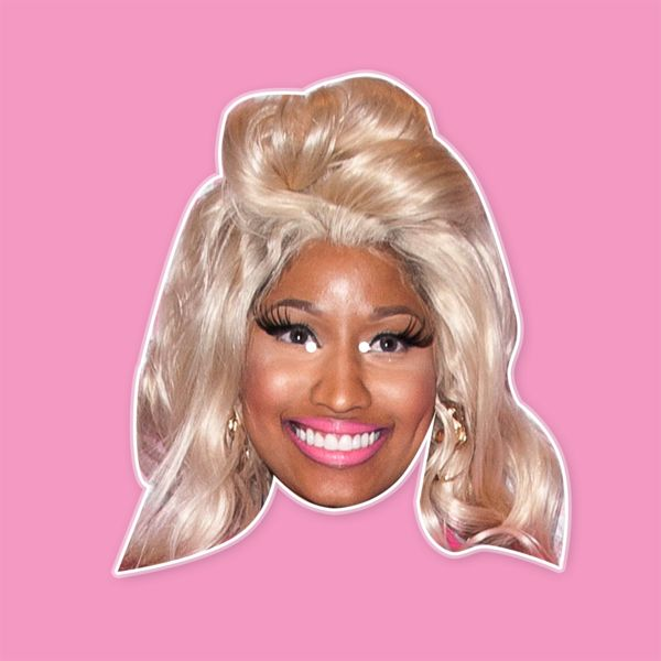 Happy Nicki Minaj Rap Mask ---- This barbie from Queens, New York is truly a queen. She built an empire under Lil Wayne, alongside Drake, and redefined what it meant to be a female rapper. She goes bar for bar with the boys, and even wifed up Meek Mill. Her favorite color is pink and her anaconda don't. Nicki Minaj got that million dollar pussy with that million dollar smile. #nickiminaj
