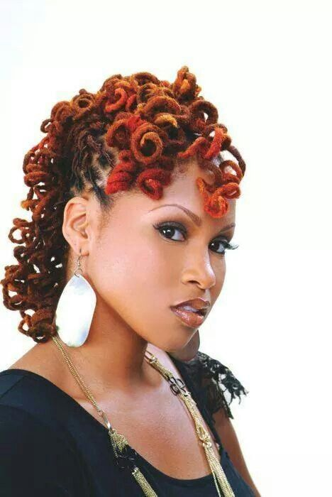 colored curly locs hairstyles