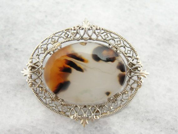 Hey, I found this really awesome Etsy listing at https://www.etsy.com/listing/177678618/montana-bird-agate-pendant-in-antique