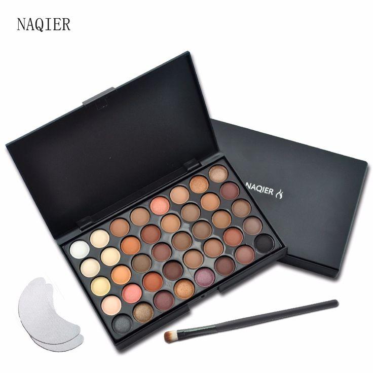 NAQIER 40 Color Matte Mắt-Pallete Làm Cho Up Trái Đất Palette Eye Shadow Trang Điểm Long Lanh Waterproof Lasting Trang Điểm Dễ Dàng để Mặc