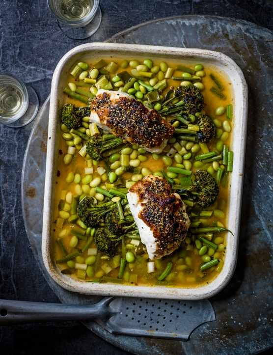 Miso Fish Recipe with Broccoli, Sesame and Beans Check out this nourishing miso fish recipe with broccoli and beans. The umami flavour from the Japanese miso paste gives this baked cod a rich and warming flavour.