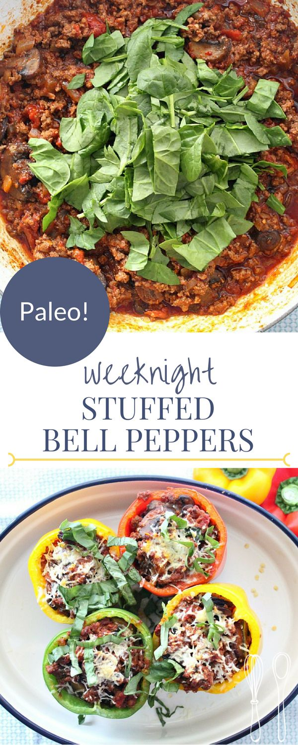 PALEO stuffed bell peppers for an easy weeknight m…