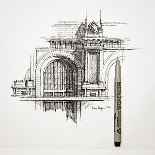 Architecture Buildings Sketch best 25+ pencil sketches architecture ideas on pinterest