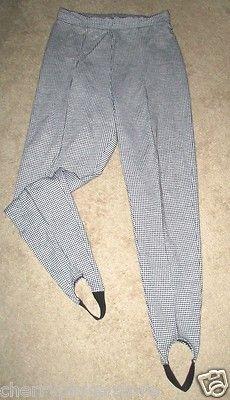 New York Style Houndstooth Sitrrup Pants Vintage? sz L 80's Style