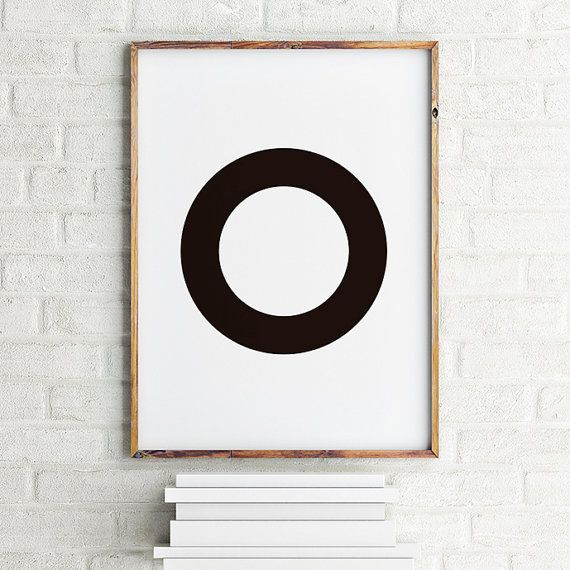 Geometric art print poster Black Circle / Printable Digital Art / Scandinavian art / Nordic Art / Wall Decor / digital print illustration