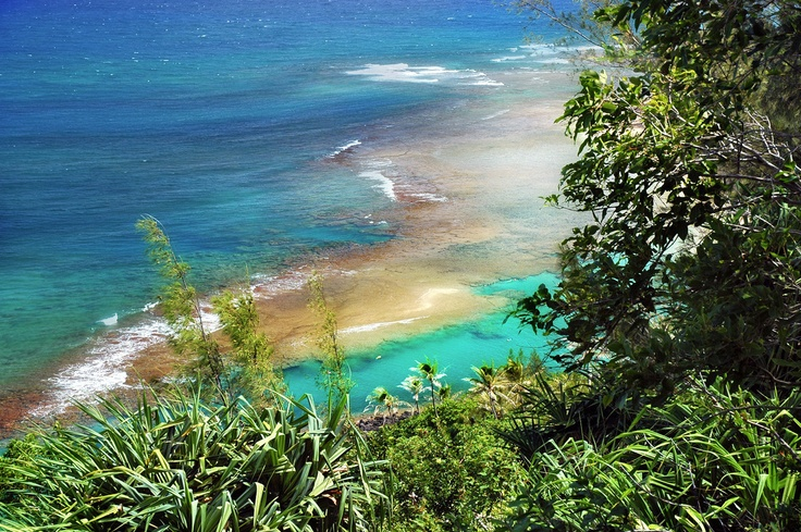 Napali coast, Kauai. My sister says we will be going here as one of our explorings ( No, not a word, sounded good though)