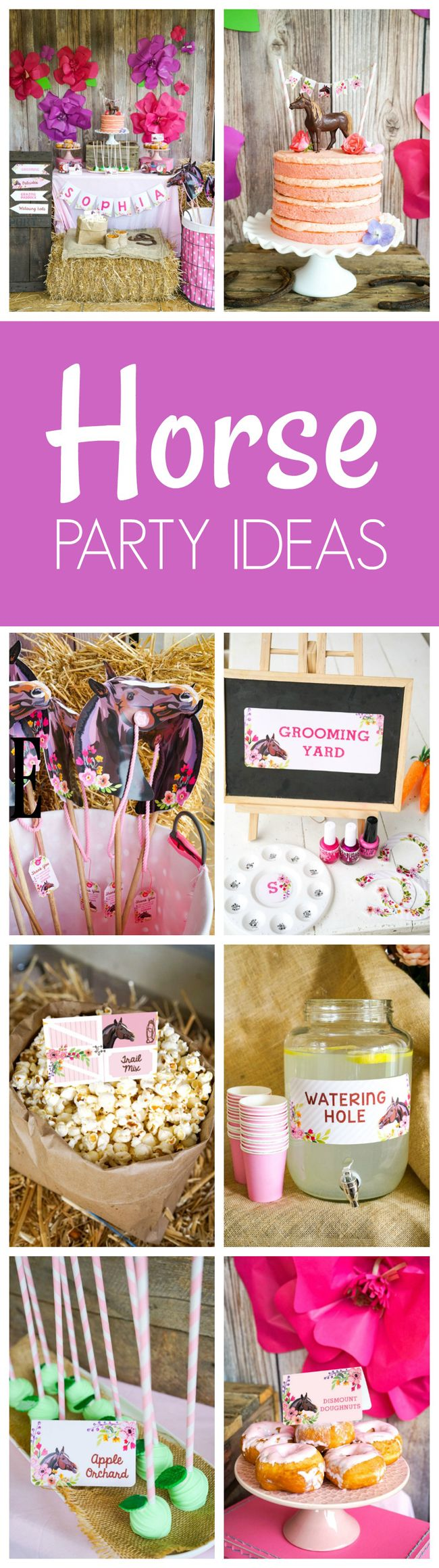 Rustic Horse Kids Birthday Party Ideas