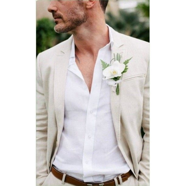 / Beach Weeding / #weeding #suit #flowers #beige #inpiration #men #guys #boys…