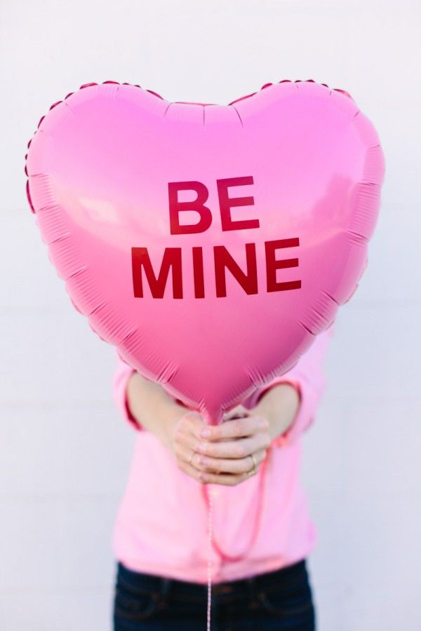 DIY Conversation Heart Balloons