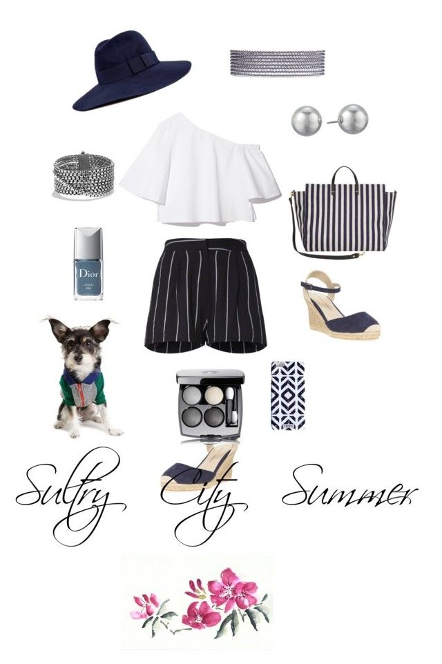 """Sultry City Summer"" by sf-angel on Polyvore featuring Dorothy Perkins, Brixton, David Yurman, Clare V., Kenneth Jay Lane, Christian Dior and Chanel"