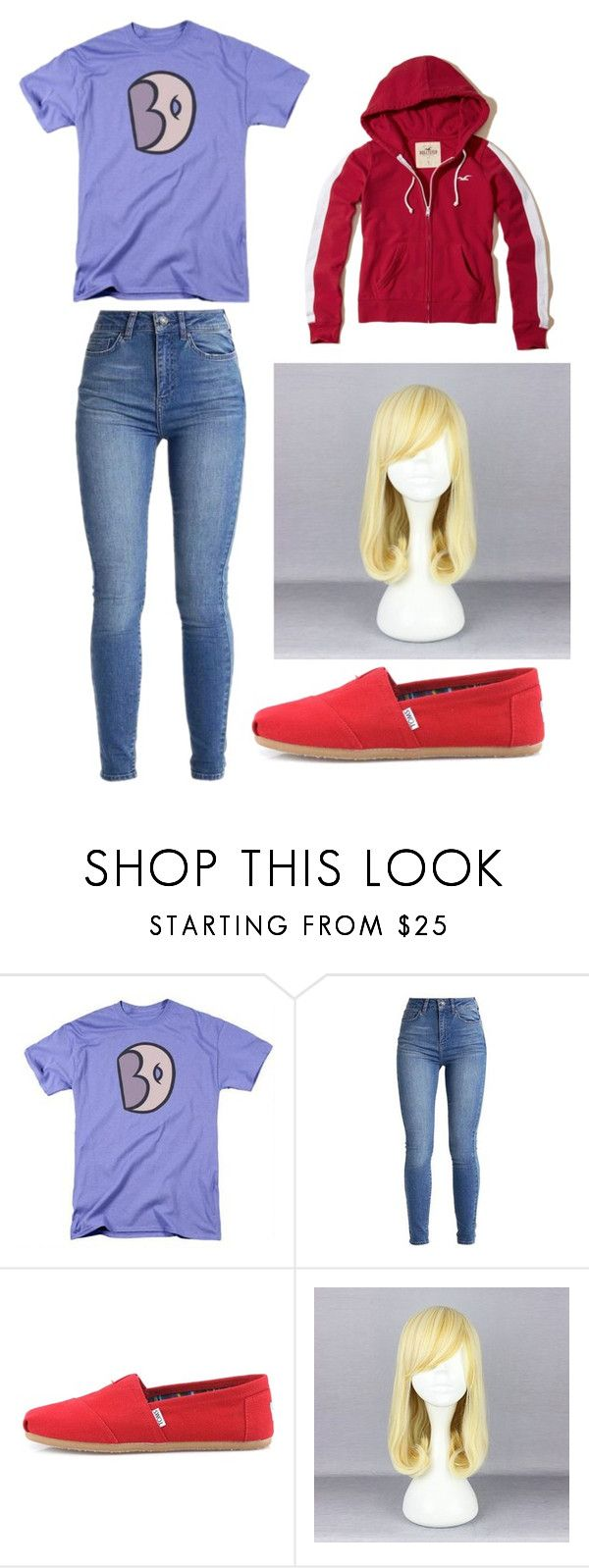 """Sadie Miller Cosplay - Steven Universe"" by adams-reagan-gca ❤ liked on Polyvore featuring TOMS, Hollister Co., cosplay and stevenuniverse"