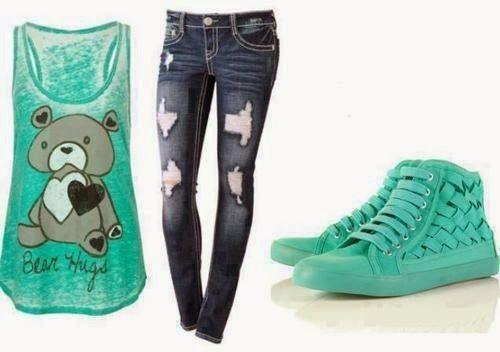 Cute blue teen outfit | Fashion World