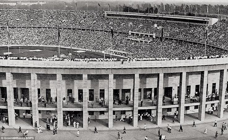 The Olympic Stadium, packed for some of the track and field events in 1936, the year when the Nazis hosted the sporting event, bringing controversy with the participation of some black athletes such as US sprinter Jesse Owens