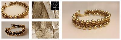 """""""GOLD"""" Nueva pulsera de hilo trenzado.  Exclusive by ZARINA  Info.zarinadesigns@gmail.com"""
