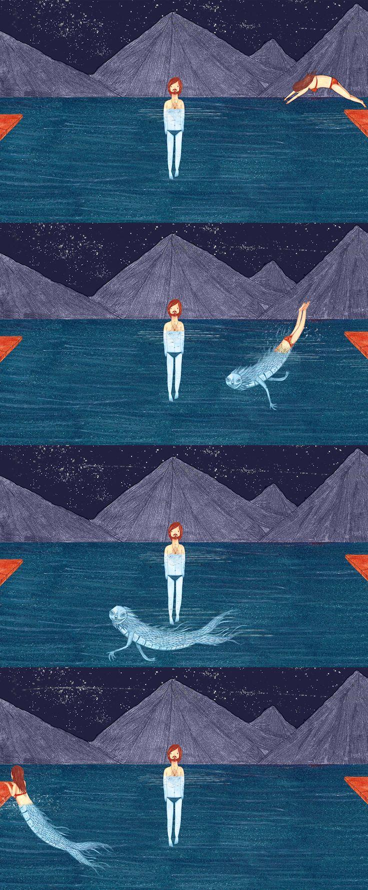 'Freak Underwater' first published in Creaturemag, May 2012 - David Litchfield