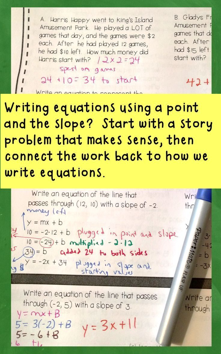 314 best expressions and equations images on pinterest high school equations of lines discovery activity and forms of linear equations falaconquin