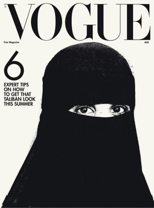 In 2006 Vogue acknowledged salient political and cultural issues by featuring the burqa, as well as articles on prominent Muslim women, their approach to fashion, and the effect of different cultures on fashion and women's lives