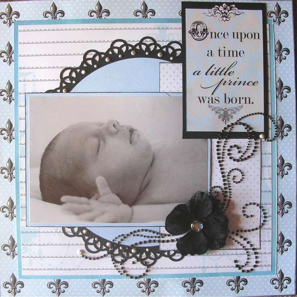 Such a great page! I have a two nieces, one Nephew and my Grandson I need to complete newborn pages for. Thanks for the idea.