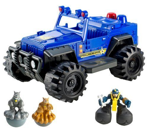 Matchbox Big Boots Police K9 ATV Vehicle by Mattel. $9.99. It's a big adventure with the Big Boots Police K9 ATV Vehicle. Big Boots always land on their feet so they're always ready to save the day. Each vehicle has its own unique theme, including Mega City or Dino Island. Includes 1 vehicle and 2 Big Boots figures. Vehicles interact with Big Boots figures to launch them in the air. From the Manufacturer                Matchbox Big Boots Police K9 ATV Vehicle: It's B...
