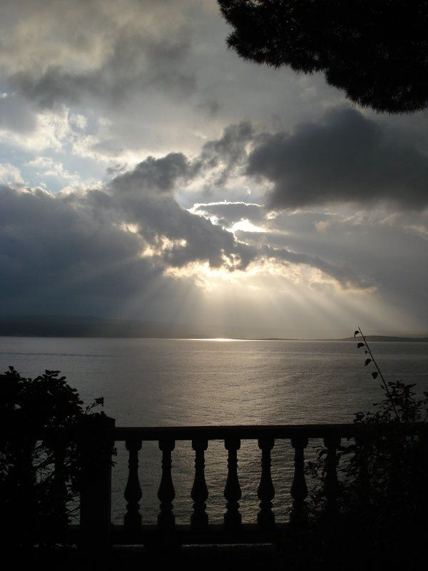Sky above the Adriatic Sea in Crikvenica, Croatia