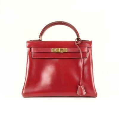 Hermès Kelly 29 Box Calf Burgundy  | CBL Bags