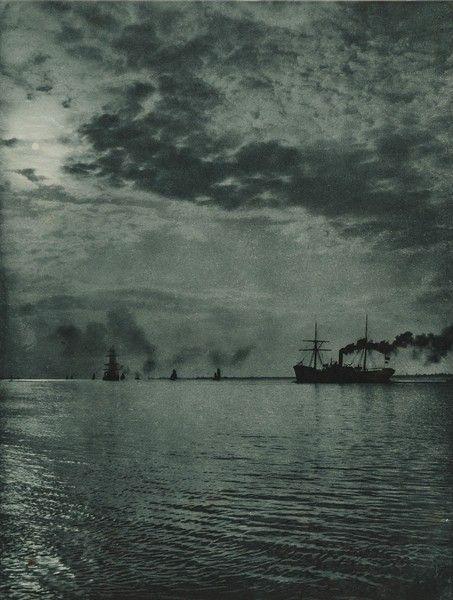 """Wilhelm Dreesen - """"Abendstimmung"""" aus der Mappe """"Aus Schleswig-Holstein"""", um 1900"""