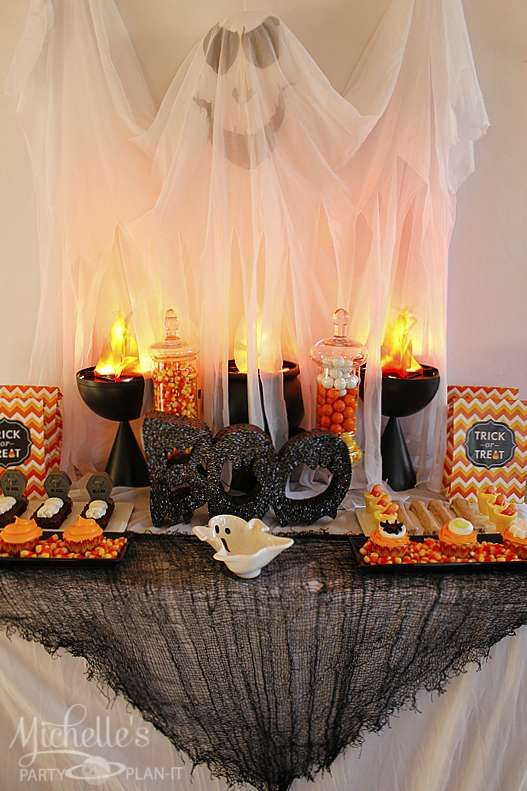 Spooky fun Halloween party!  See more party planning ideas at CatchMyParty.com!