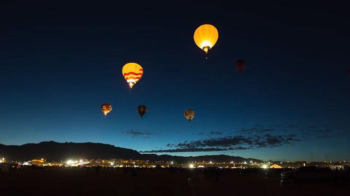 Timelapse : Festival de montgolfières à Albuquerque - Olybop
