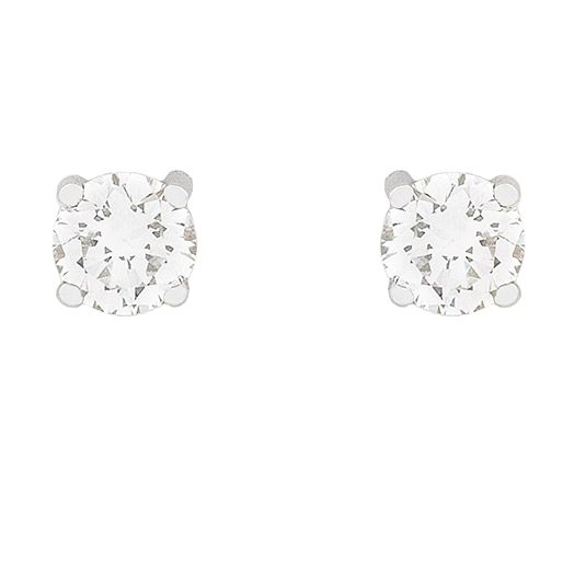 18 CARAT WHITE GOLD DIAMOND STUDS
