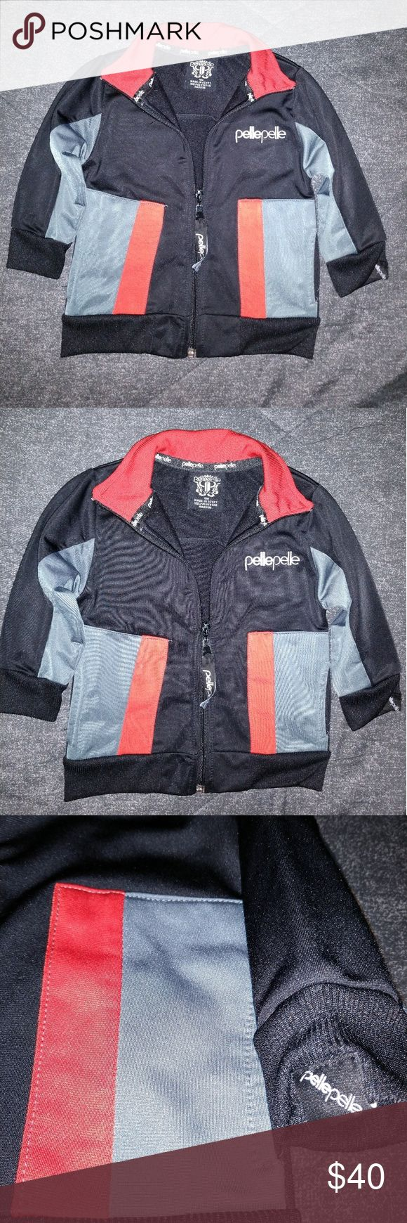 Pelle Pelle Jacket Toddler Jacket by Pelle Pelle  Color black red and grey Made in Egypt  100% polyester LP 1475 - 11493 7 Machine wash cold with like colors tumble dry low Do not bleach Size 18 months Perfect condition no wear and tear brand new with no tags Pelle Pelle Jackets & Coats