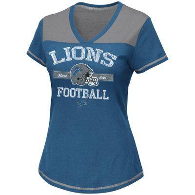 Detroit Lions Women's Champion Swagger V-Neck T-Shirt - Light Blue