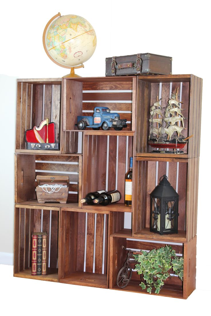 wooden crates as shelves antique style wooden crates easy to stack for decorative shelving craft business and trends 4226
