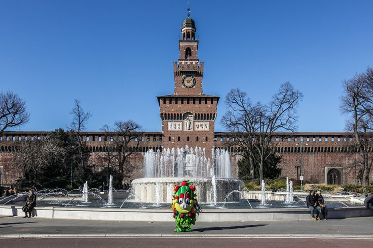 """""""Piazza Castello: what a marvellous place! During #Expo2015 with #Nevicata14, a Guidarini & Salvadeo project, we'll see it dressed in white, with trees and umbrellas to shield from sun and rain. I just can't wait, and you?"""" - #Foody"""