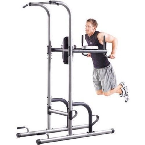 Power Tower Fitness Pull Up Bar Dip Station Exercise Home Gym Workout Equipment #Unbranded