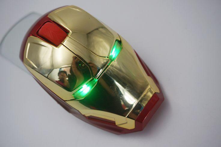cool 2.4g wireless gaming iron man mouse #gamer, #man