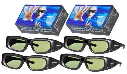 4 Rechargeable Ultra-Clear 3D Glasses for Sharp 3D Televisions by Ultimate. $159.95. Stylish, light-weight, comfortable, affordable and bright.  These ultra-clear HD 3D glasses have a larger viewing area and a clearer image than competitor's 3D glasses and best of all they are rechargeable, meaning there is no hassle of having to change the batteries.  Includes carrying bag, cleaning cloth, USB charging cable, and indestructible case. Meets or exceeds the quality a...