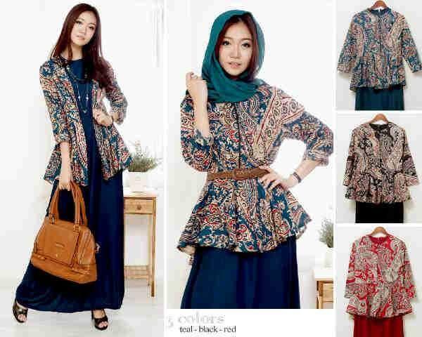 Baju muslim remaja modern amalia batik S430