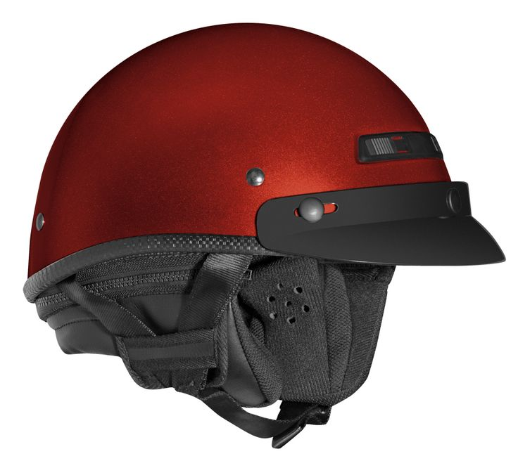 Helmet by Vega - Scooter Motorcycle Moped Helmets - Half XTA Touring Candy Red > Part #V7600RED271