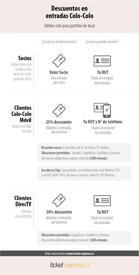 Descuentos vigentes en la compra de tus entradas para ver a Colo - Colo en el Campeonato de Clausura 2013-2014.