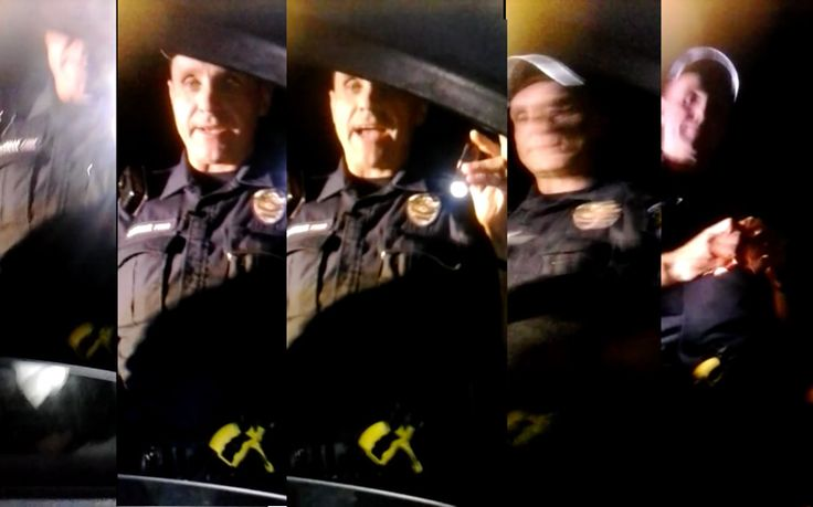 An Austin Police officer arrested a man for eating a hamburger in his own car without any probable cause a crime was being committed.