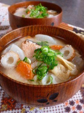 ❤鮭の粕汁❤具が大きい!おばぁちゃんの味 by rie-tin [クックパッド] 簡単おいしいみんなのレシピが257万品
