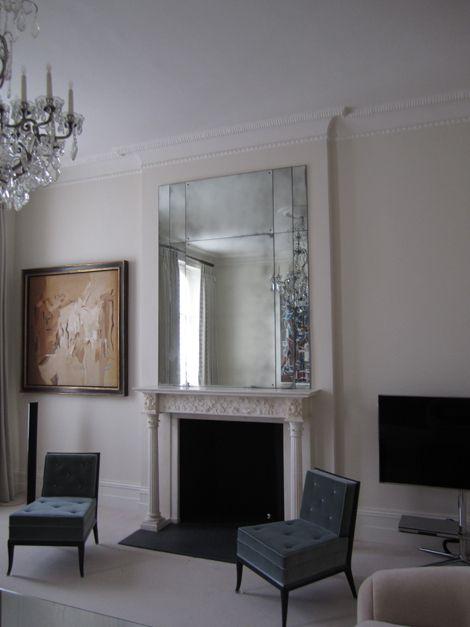 Rupert Bevan - Antiqued Mirror Glass - Art Deco Overmantel Mirror II
